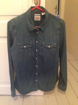 Levi's Chemise en jean bleu foncé