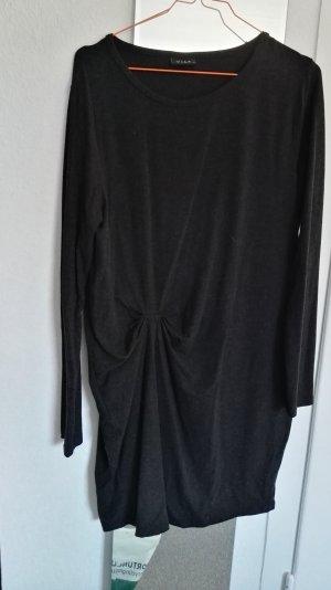 dunkles Strickkleid mit Knotendetail Vila