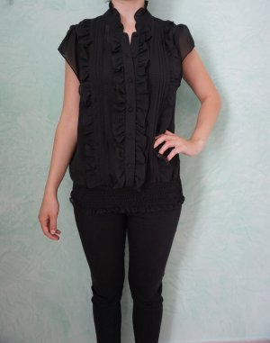 Flounce Top black polyester