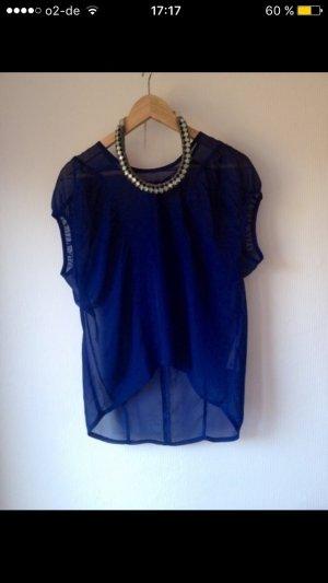Durchsichtige Blaue Bluse