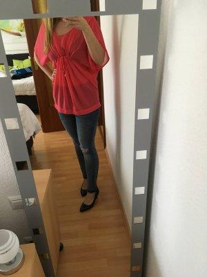 Durchsichtige Bluse von H&M in Pink
