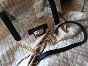 JustFab Mini Bag black-gold-colored
