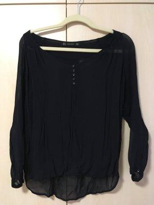 Durchsichtige dunkelblaue Bluse