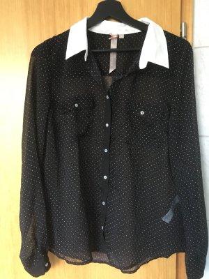 durchsichtige gepunktete Bluse