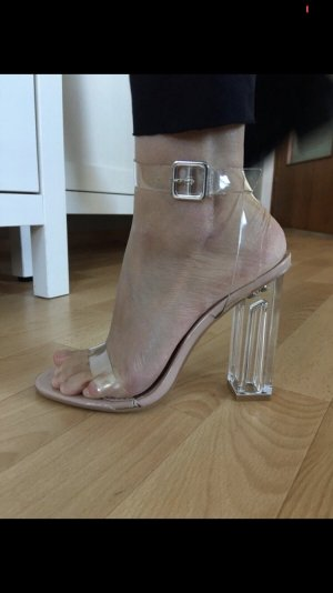 Asos Strapped Sandals nude