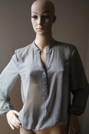 Durchsichtige langarm Bluse von More &More Gr. 34 schwarz gemustert