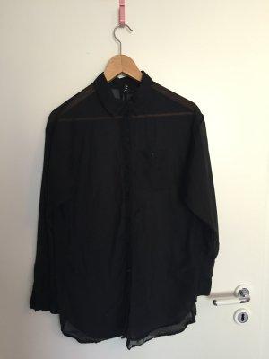Durchsichtige Oversize Bluse