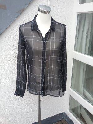 Durchsichtige schwarz-weisse Bluse von Vero Moda
