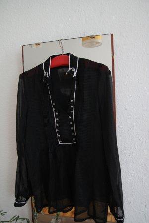 durchsichtige schwarze Bluse