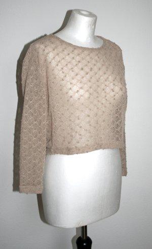 Durchsichtiger Pullover beige