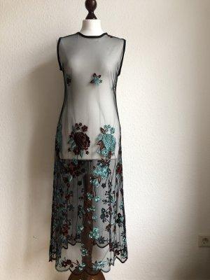 Durchsichtiges Maxikleid Abendkleid Empirekleid - glamourös von Escada