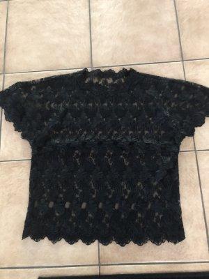 durchsichtiges schwarzes Shirt / Bluse - Gr. XS/S
