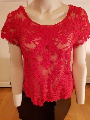 Durchsichtiges Shirt in Rot