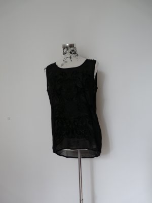 Durchsichtiges Top mit schwarzem Muster von minimum