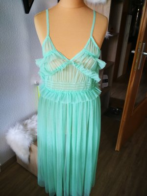 Mango Beach Dress turquoise polyester