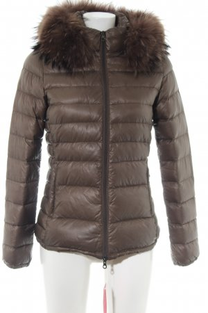 Duvetica Down Jacket brown quilting pattern casual look