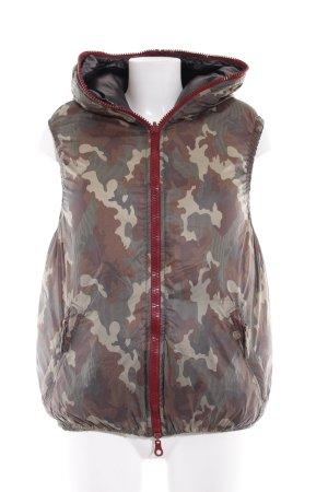 Duvetica Capuchon vest camouflageprint atletische stijl