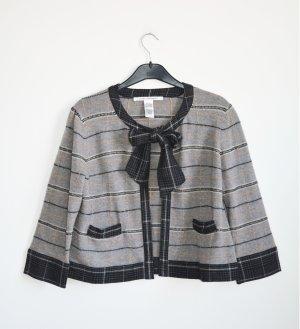 Diane von Furstenberg Veste en tricot gris-noir tissu mixte