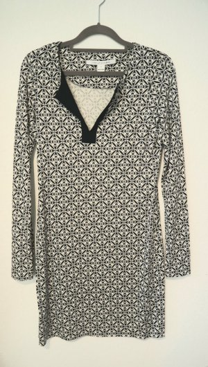 Diane von Furstenberg Tunic Dress white-dark blue silk