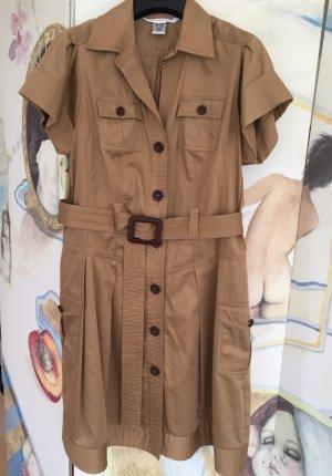Diane von Furstenberg Coat Dress light brown cotton
