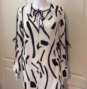 Diane von Furstenberg Zijden blouse wit-zwart
