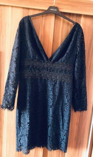 Diane von Furstenberg Vestido de encaje azul oscuro-negro