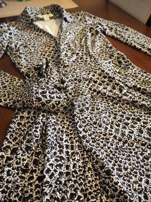 Diane von Furstenberg Robe portefeuille blanc-noir viscose