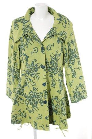 DW-Shop Long-Blazer dunkelgrün-wiesengrün extravaganter Stil