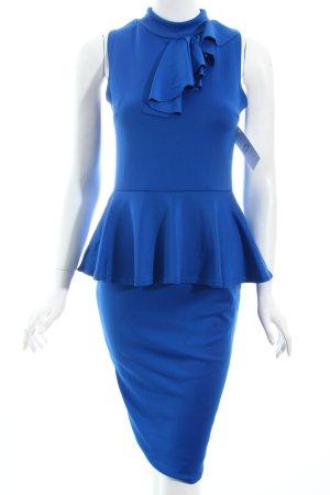 DX London Etuikleid blau Business-Look