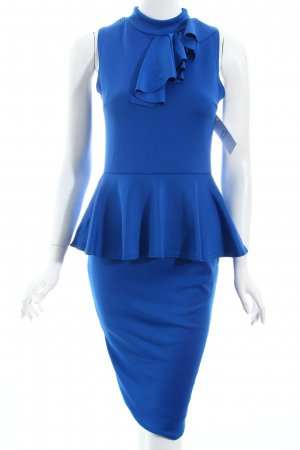 DX London Etuikleid blau Business-Look