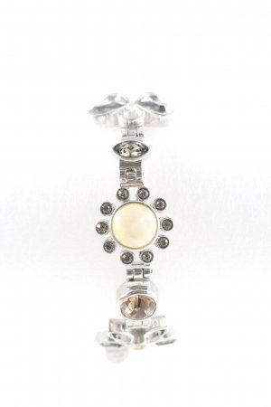 Dyrberg/Kern Braccialetto sottile argento motivo floreale stile casual