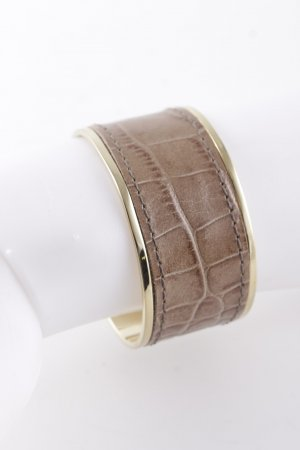 Dyrberg/Kern Bangle beige-gold-colored reptile print