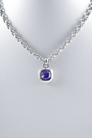 Dyrberg/Kern Link Chain silver-colored-lilac casual look