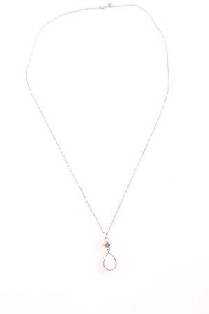 Dyrberg/Kern Halskette silberfarben-weiß Business-Look