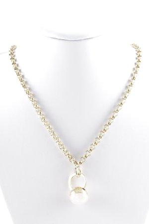 Dyrberg/Kern Halskette goldfarben-wollweiß Elegant