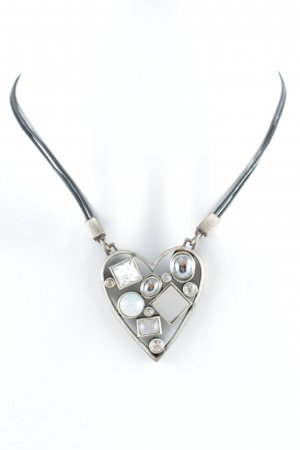 Dyrberg/Kern Necklace black-silver-colored casual look