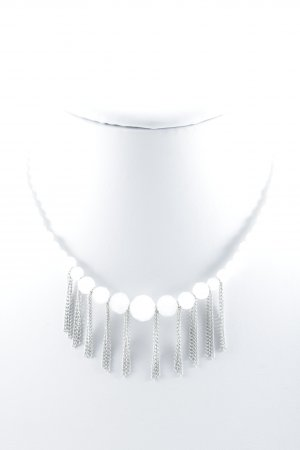 Dyrberg/Kern Halskette weiß-silberfarben Casual-Look