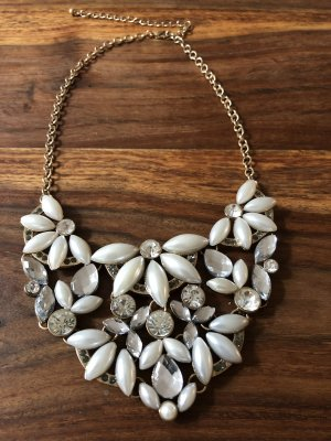 Dyrberg/Kern Statement Necklace natural white-silver-colored
