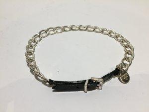 Dyrberg Kern Ketten-Halsband mit Lackleder