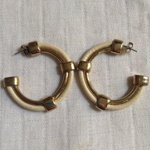 Dyrberg Kern Ohrringe Creolen Gold Creme Ohrstecker