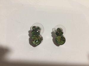 Dyrberg Kern Ohrstecker mit grünen Steinen