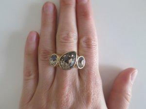 DYRBERG/KERN ring in GR 56/57 Gold mit 3 Swarovski Steinen