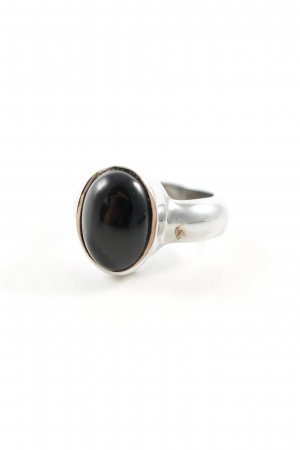 Dyrberg/Kern Silver Ring silver-colored-black casual look