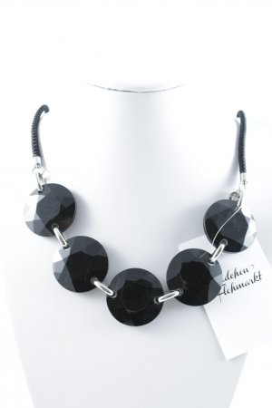 Dyrberg/Kern Statement Necklace black-silver-colored extravagant style