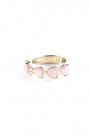 Dyrberg/Kern Statement Ring gold-colored-dusky pink elegant