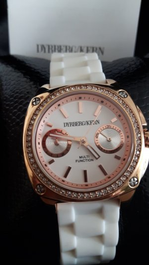 Dyrberg/Kern Reloj analógico blanco-color rosa dorado