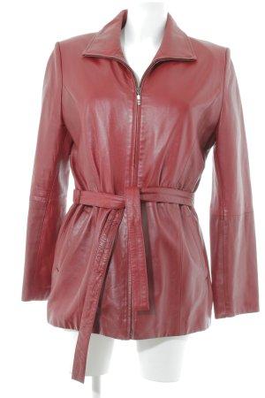 E.B. Company Leather Coat russet classic style