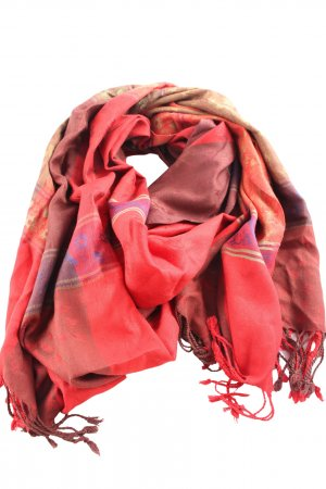 E.B. Company Summer Scarf red mixed pattern casual look