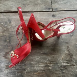Platform High-Heeled Sandal red-gold-colored