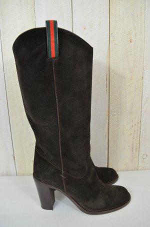 E'CLAT Damen Stiefel Boots Braun Leder Absatz Gr.39